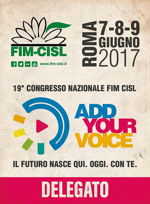 Badge congresso FIM CISL NAZIONALE2