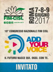 Badge congresso FIM CISL NAZIONALE3